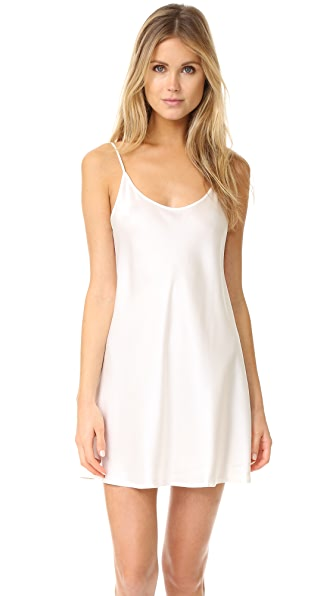 La Perla Silk Chemise In White