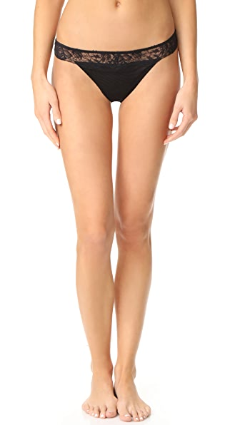 La Perla Blossoms Thong In Black