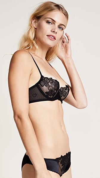La Perla English Rose Balconette Bra - Black