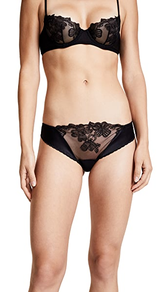 La Perla English Rose Bikini Panties In Black