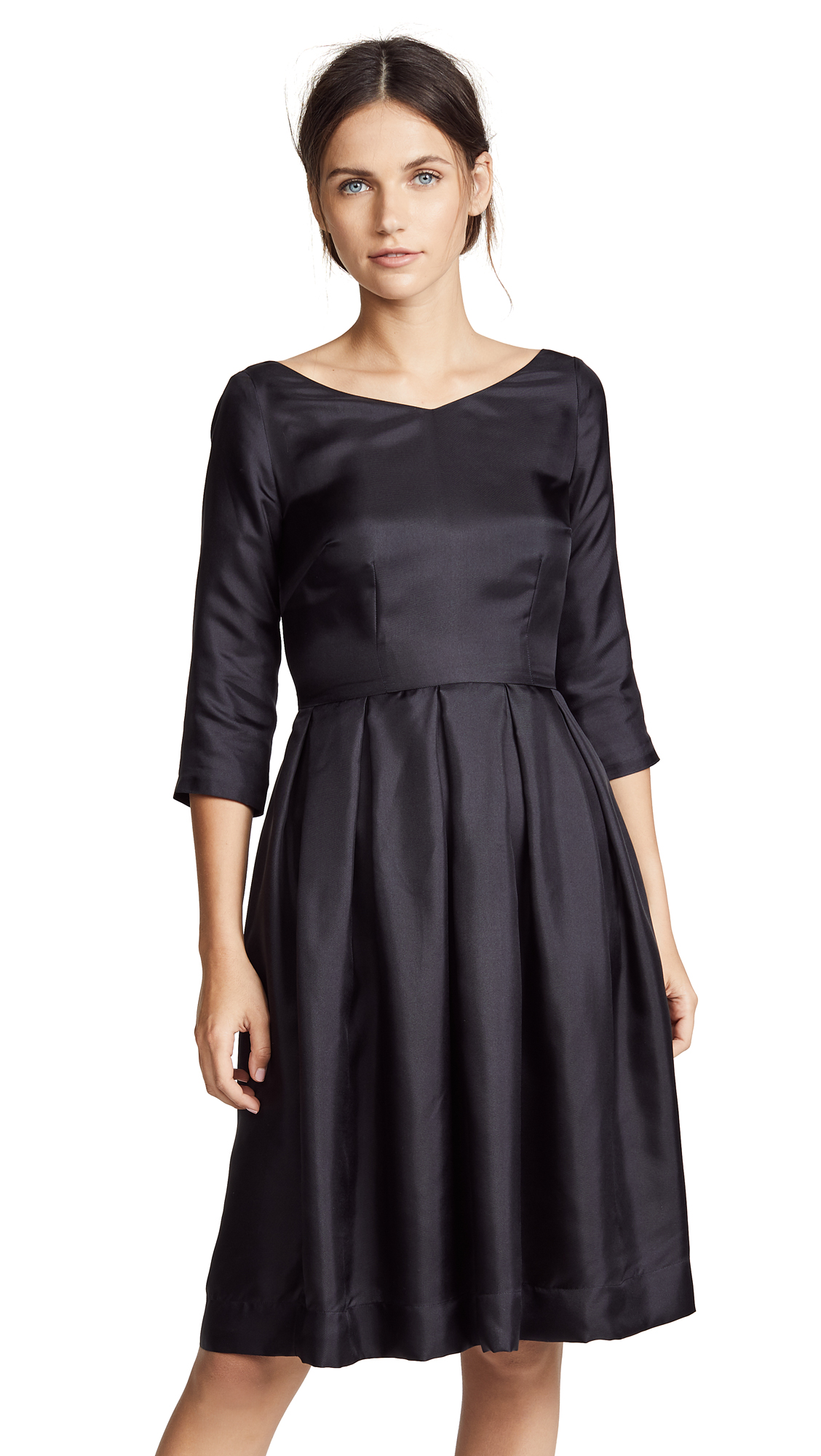 La Prestic Ouiston Bourgeouise 3/4 Sleeve Dress In Black