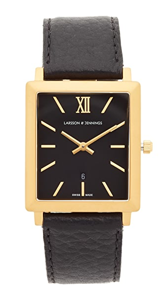Larsson & Jennings Norse Large Strap Watch - Gold/Black
