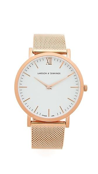 Larsson & Jennings Lugano Watch - Rose Gold/White