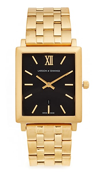 Larsson & Jennings Norse 5 Link Watch - Gold/Black