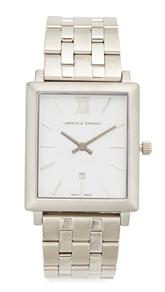 Larsson & Jennings Norse 5 Link Watch In Silver/White