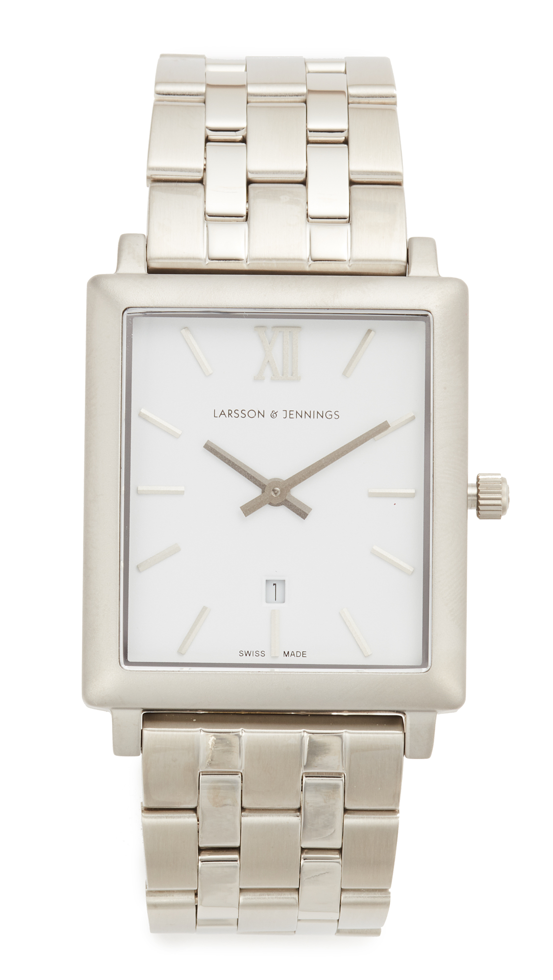 Larsson & Jennings Norse 5 Link Watch - Silver/White