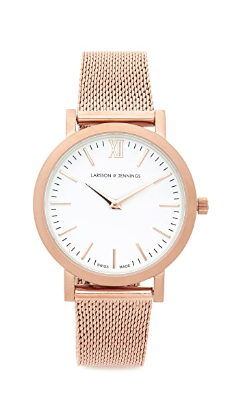 Larsson & Jennings Lugano Watch - Rose Gold/White