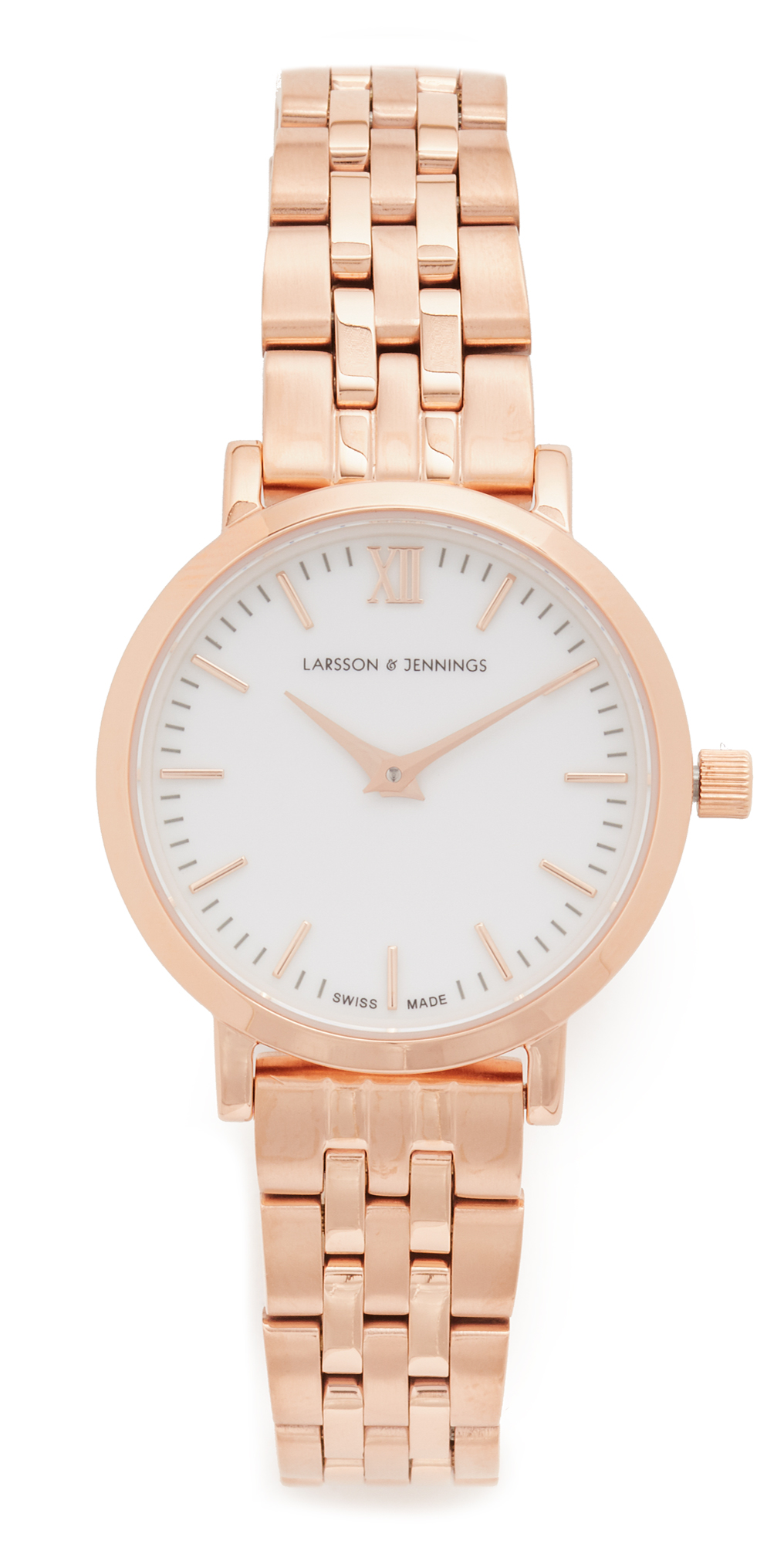Lugano Small 5 Link Watch Larsson  Jennings