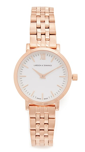 Larsson & Jennings Lugano Small 5 Link Watch at Shopbop