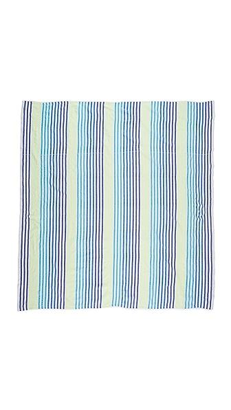 Las Bayadas La Rosamar Beach Blanket - Blue Multi