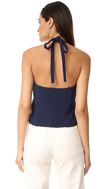 LAVEER Underall Snap Up Halter Top
