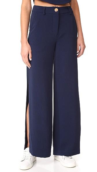 LAVEER Wide Leg Slit Pants