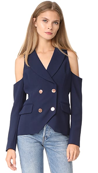 LAVEER Open Shoulder Kadette Blazer - Midnight