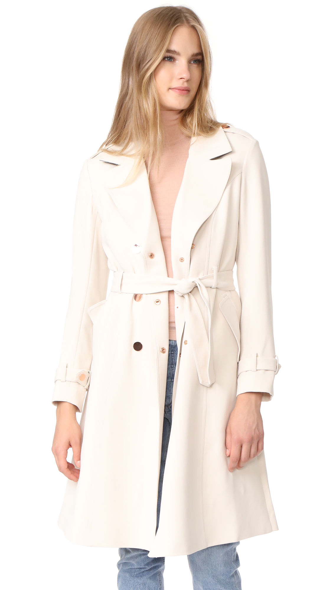 LAVEER Angelina Trench Coat - Stone