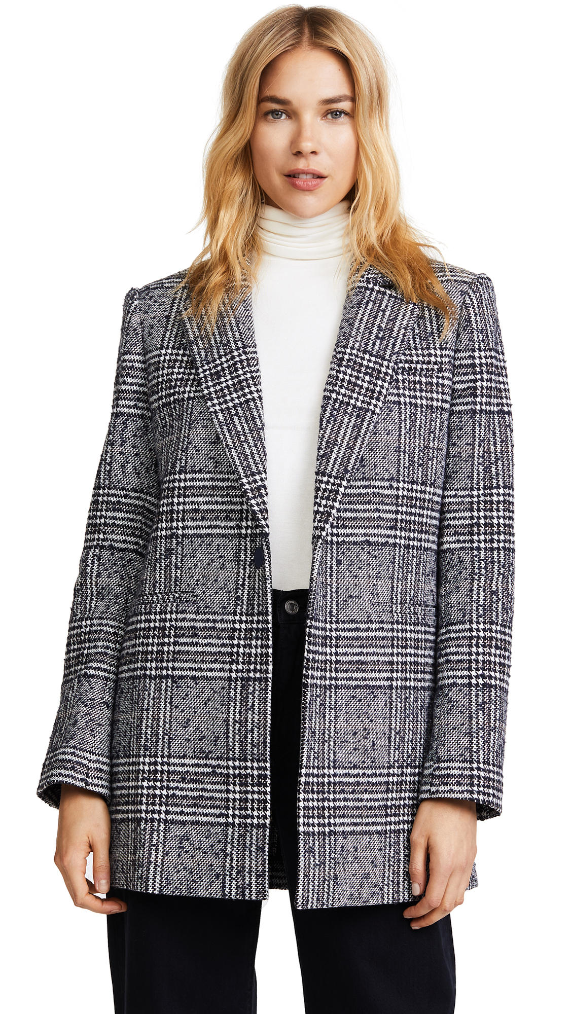 LAVEER Oversized Boyfriend Blazer - Wilderness Plaid