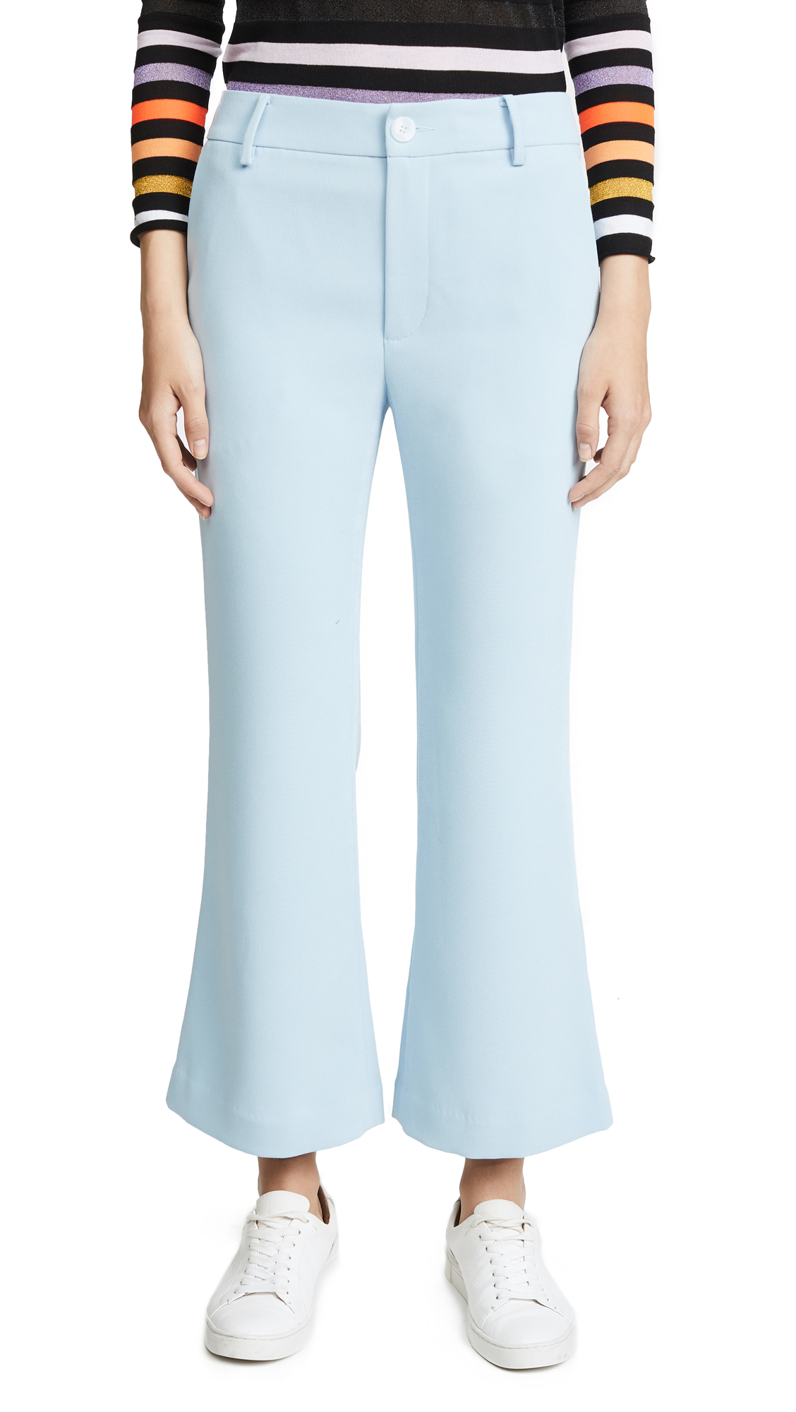 LAVEER Cropped Annie Pants In Postal Blue