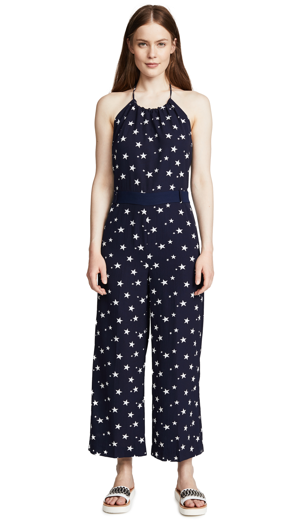 LAVEER Newport Jumpsuit In Star Print