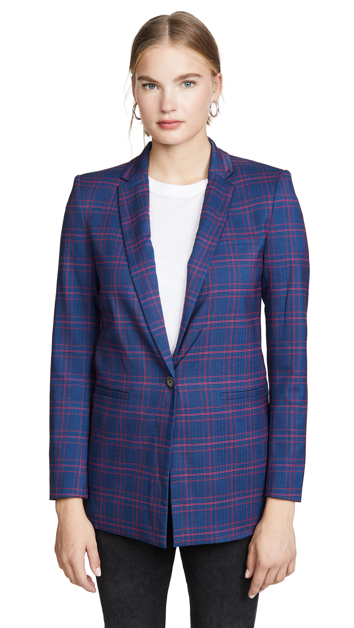 Buy LAVEER online - photo of LAVEER Tartan Boyfriend Blazer