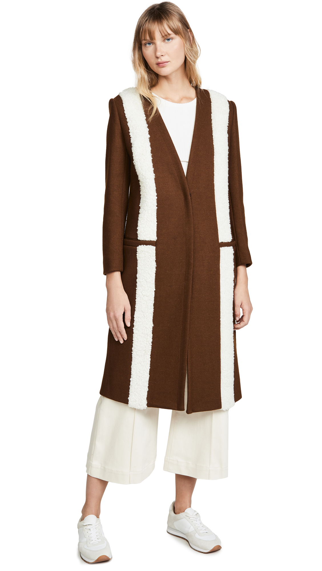 Buy LAVEER Baja Striped Overcoat online beautiful LAVEER Clothing, Jackets
