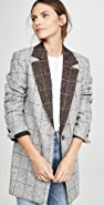 LAVEER Colorblock Oversized Man Blazer