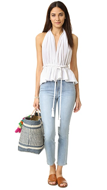 Loup Charmant Conch Halter Wrap Top