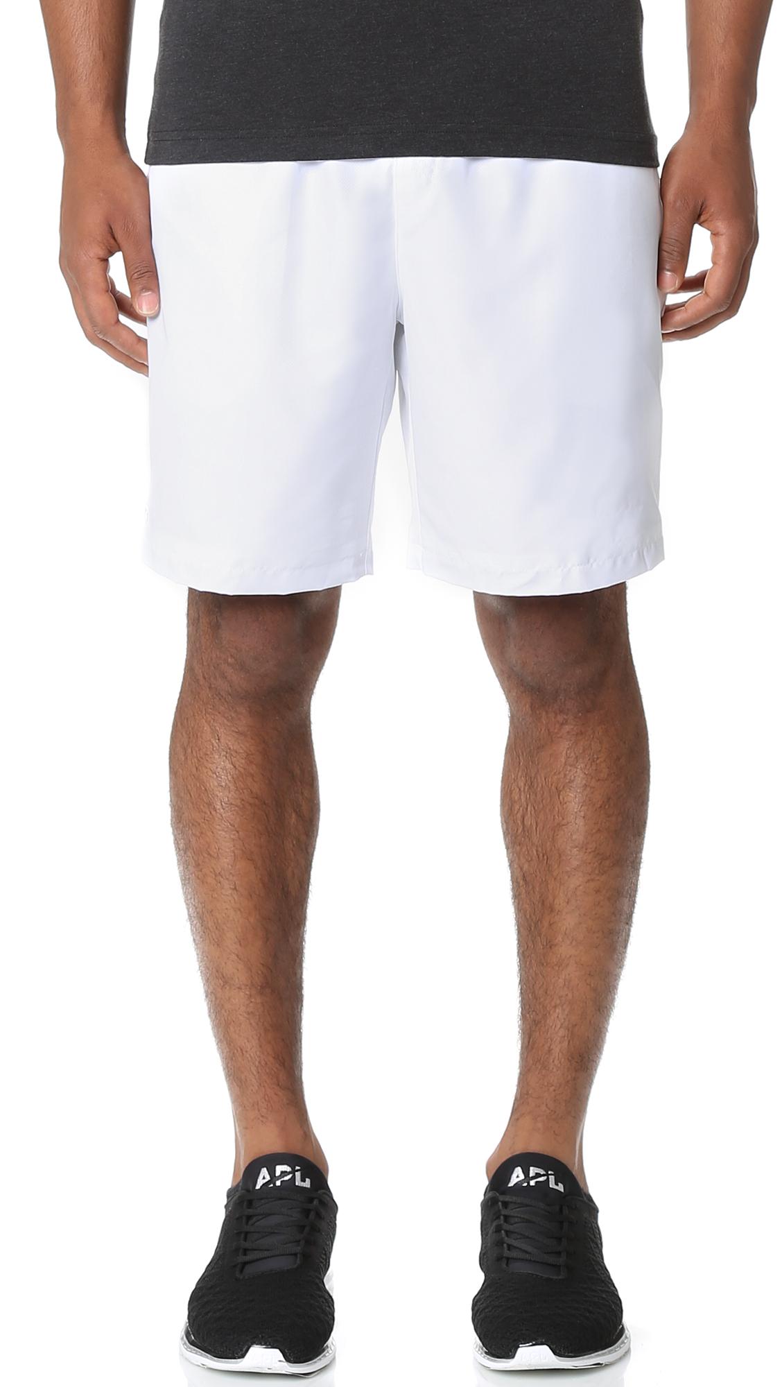 8dd9397e0 Lacoste Diamond Weave Taffeta Tennis Shorts