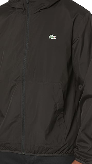 Lacoste Lightweight Nylon Hooded Jacket