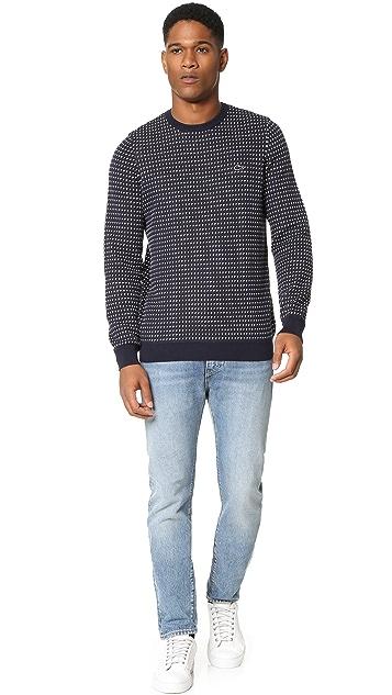 Lacoste Kinetic Intarsia Crew Neck Sweater