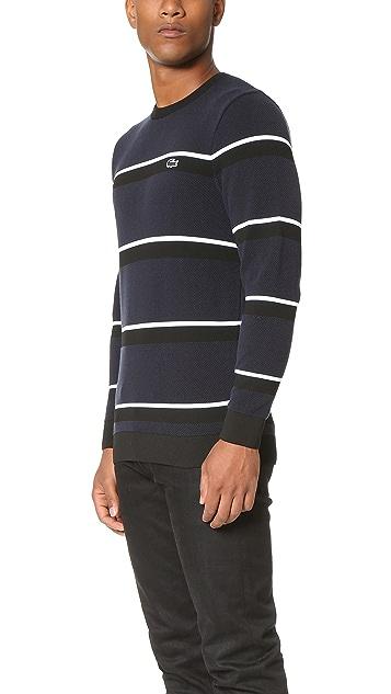 Lacoste Pique Crew Neck Pullover