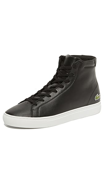 Lacoste L. 12.12 Mid Top Leather Sneakers