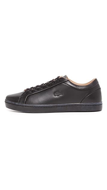 Lacoste Straightset Leather Sneakers