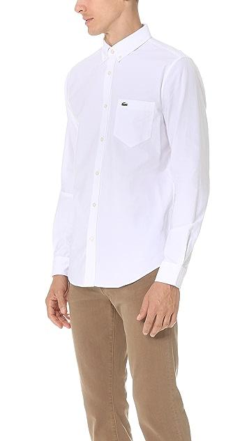 Lacoste Button Down Oxford Shirt