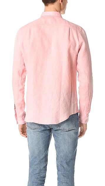 Lacoste Button Down Linen Shirt