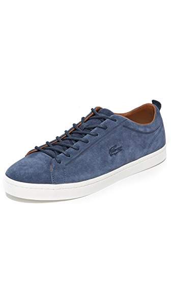 Lacoste Straightset Blue Suede Sneakers
