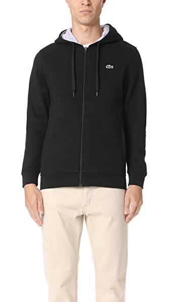 Lacoste Sport Full Zip Hoodie Fleece Sweatshirt