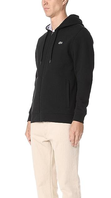 Lacoste Sport Full Zip Hoodie Fleece Sweatshirt