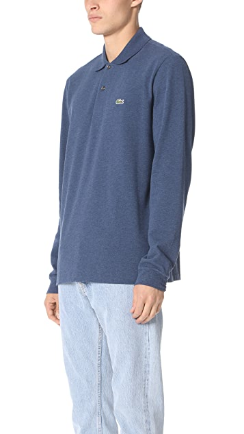 Lacoste Long Sleeve Classic Chine Pique Polo Shirt