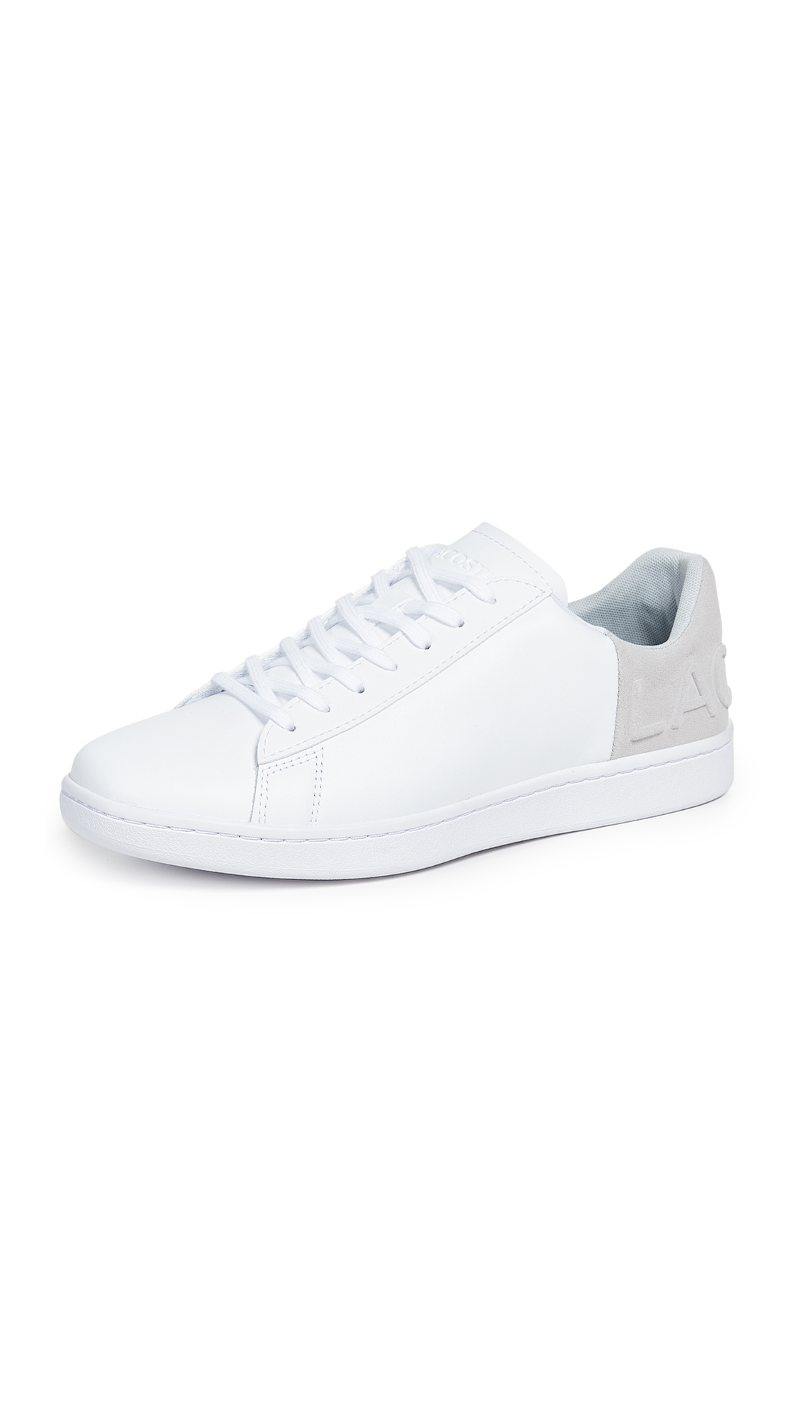 f4b2b56cf4f261 Lacoste Carnaby Evo 318 6 Sneakers In White Light Grey