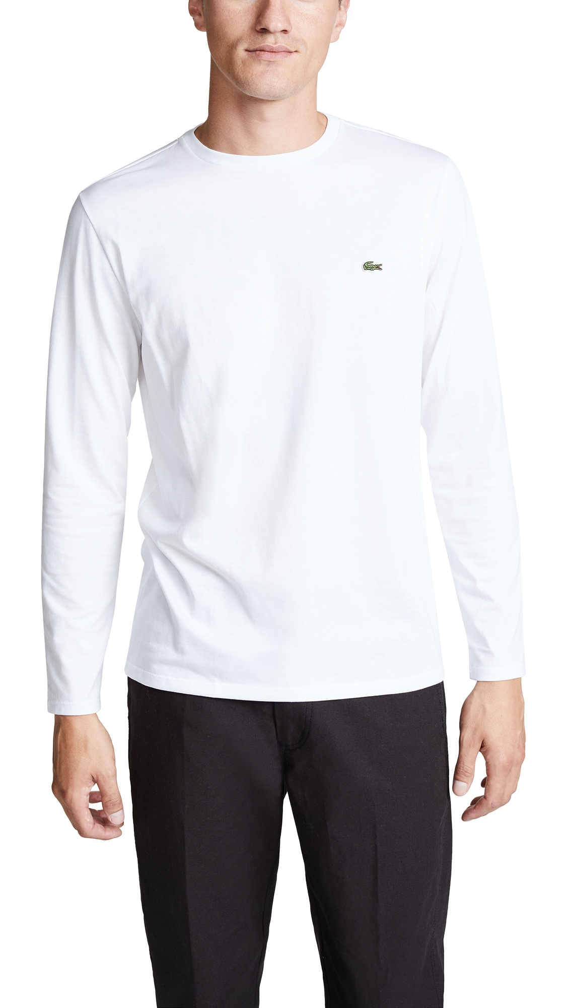 Lacoste Men's Crew Neck Pima Cotton Jersey T-shirt In White