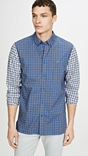 Lacoste Checkered Patchwork Shirt