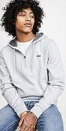 Lacoste Half Zip Fleece Hoodie
