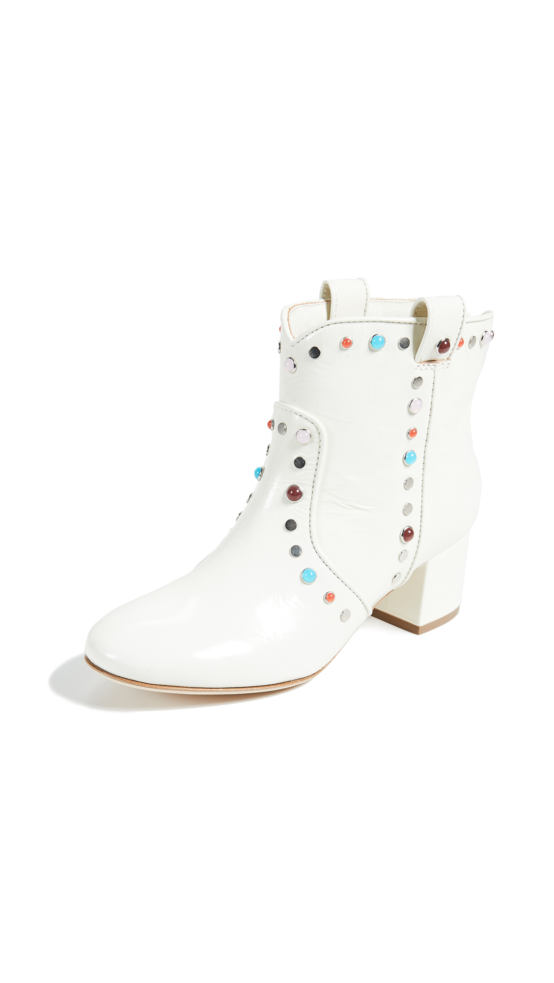 Laurence Dacade Belen Studded Booties - White