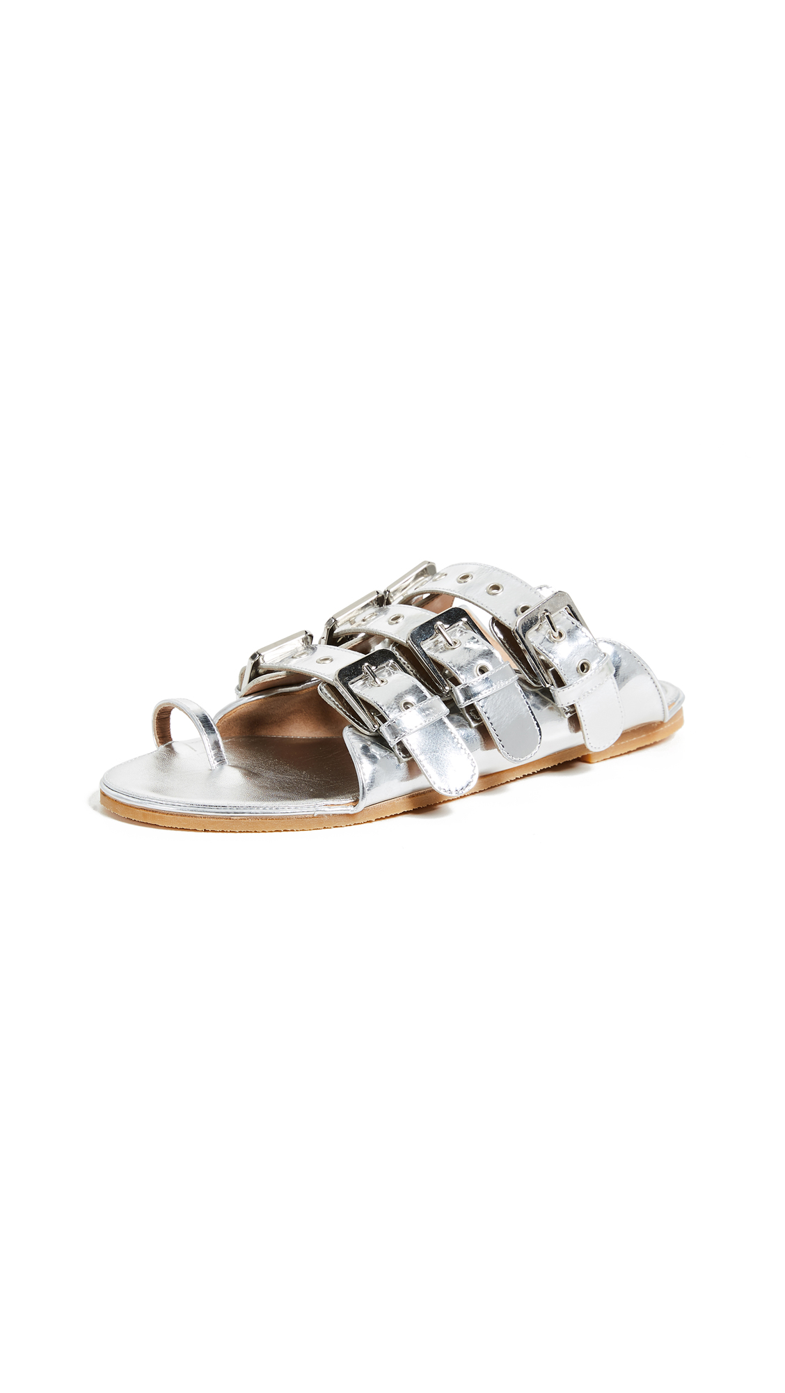 Laurence Dacade Renato Toe Ring Slides - Silver