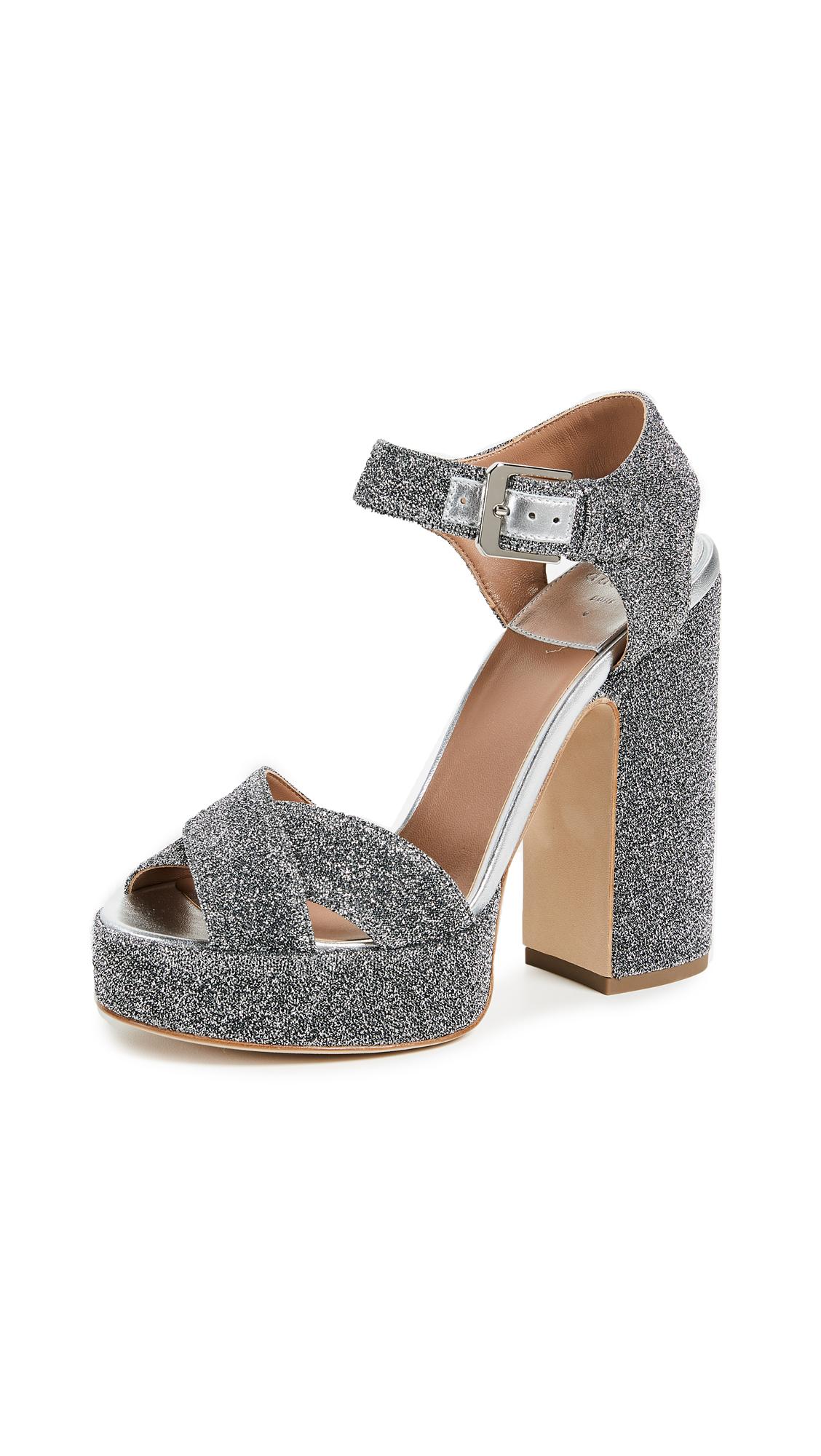 Laurence Dacade Rosange Platform Sandals - Silver