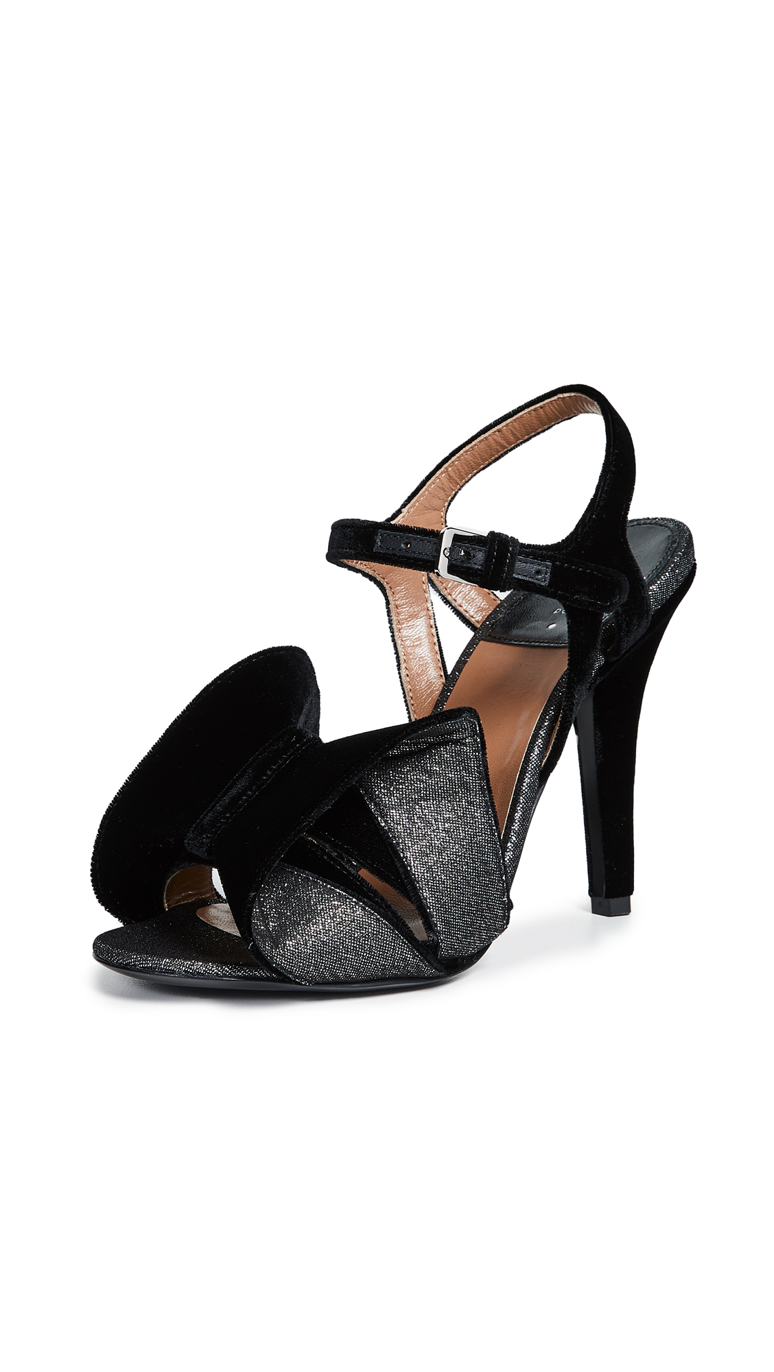 LAURENCE DACADE Women'S Shady Velvet & Metallic High-Heel Sandals in Black