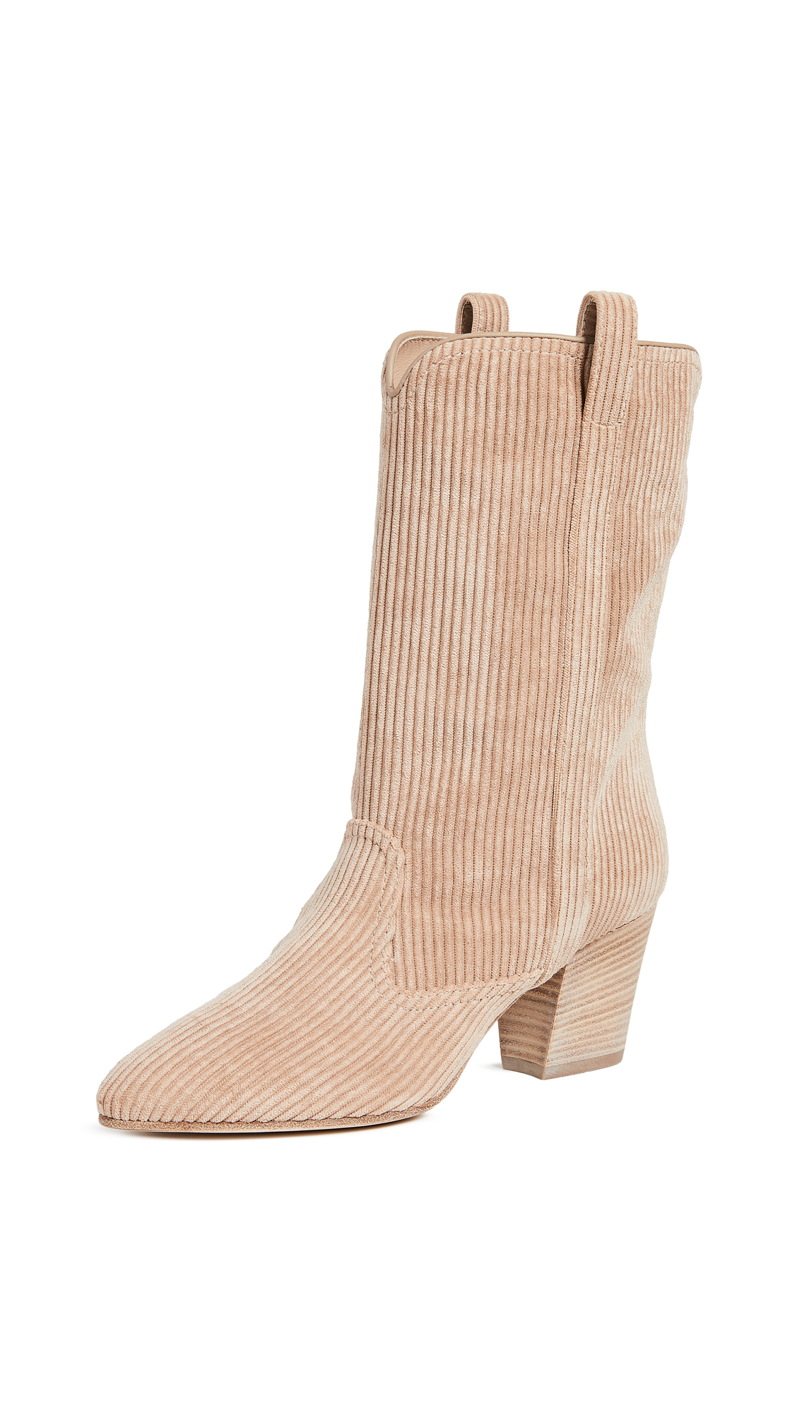 Simona Corduroy Ankle Boots in Beige
