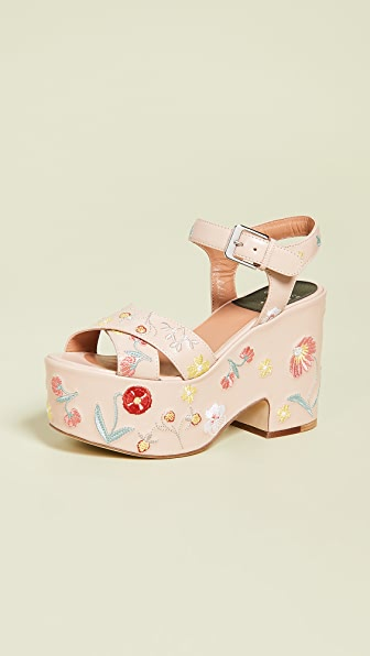 Laurence Dacade HELISSA HERBARIUM WEDGE SANDALS