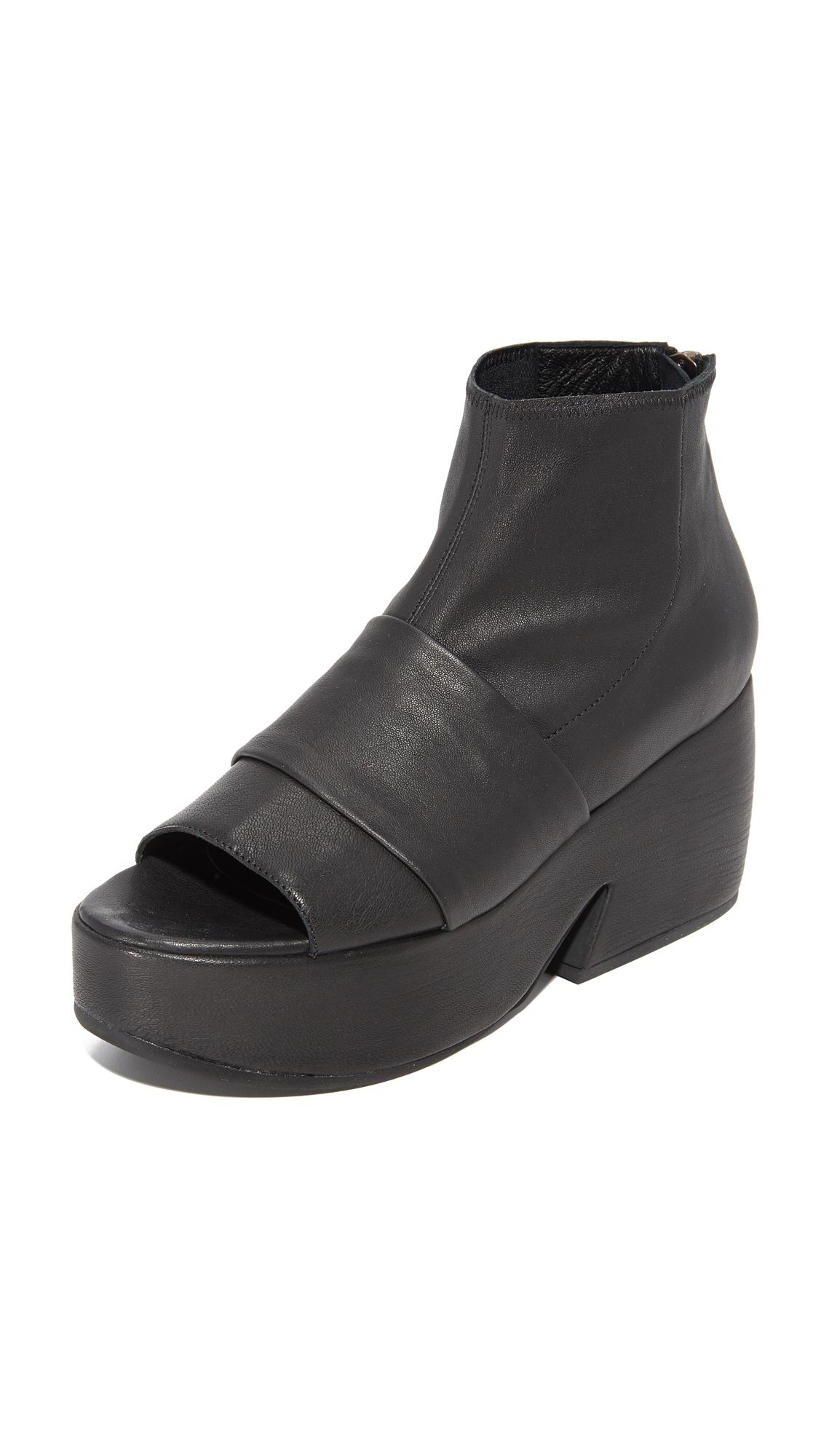 Photo of Ld Tuttle The Tilt Open Toe Platform Booties Black - LD Tuttle online