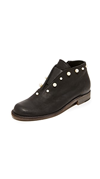 LD Tuttle The Airy Booties - Black/White Pearl