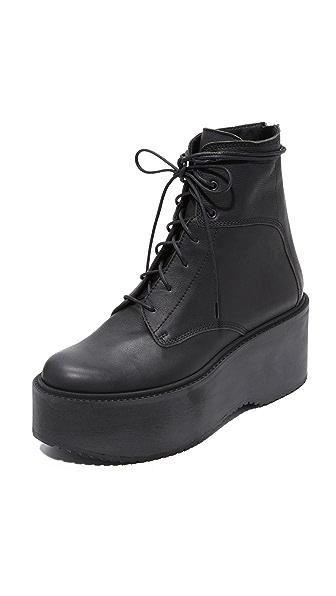 LD Tuttle The Plunge Platform Combat Boots - Black